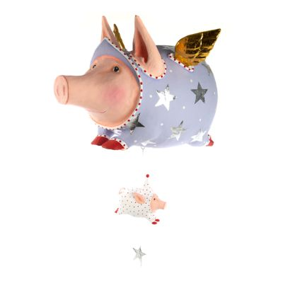 Patience Brewster Tinkerbelle Flying Pig Display Figure