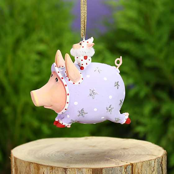 Patience Brewster Tinkerbelle Pig Mini Ornament image two