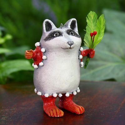 Patience Brewster Huck Raccoon Mini Ornament