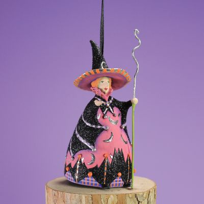 Patience Brewster Bat Moon Witch Mini Ornament
