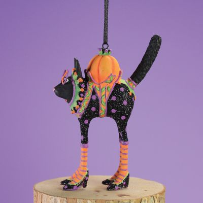 Patience Brewster Black Cat Mini Ornament