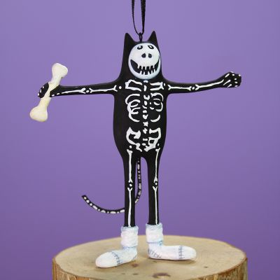 Patience Brewster Boney Cat Mini Ornament