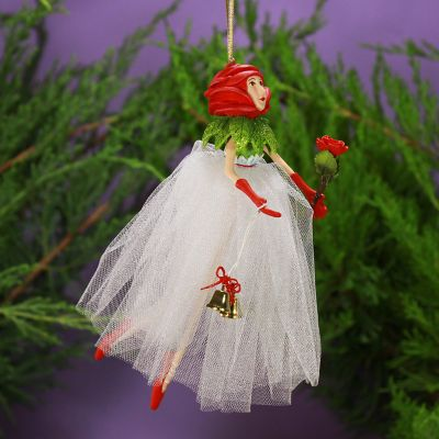 Patience Brewster Rose Fairy Ornament