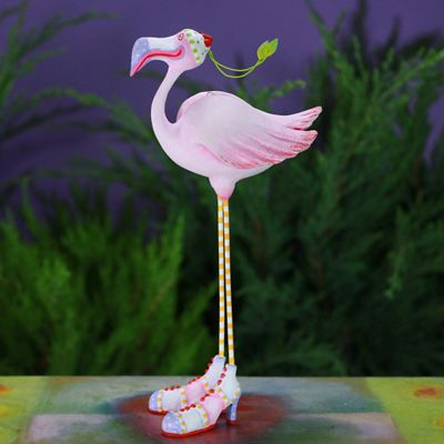 Patience Brewster Jambo Sheila Flamingo Ornament