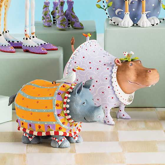 Patience Brewster Jambo Helen Hippo Ornament image two