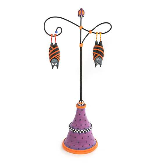 Patience Brewster Bart & Beatrice Bat Ornaments with Stand