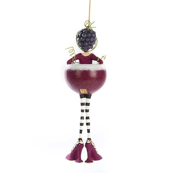 Patience Brewster Ruby Red Wine Girl Ornament image three