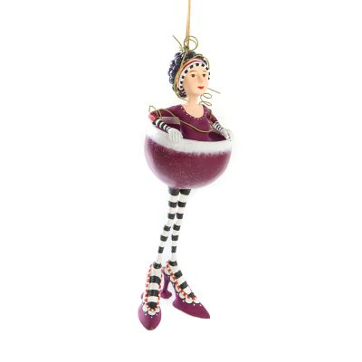 Patience Brewster Ruby Red Wine Girl Ornament