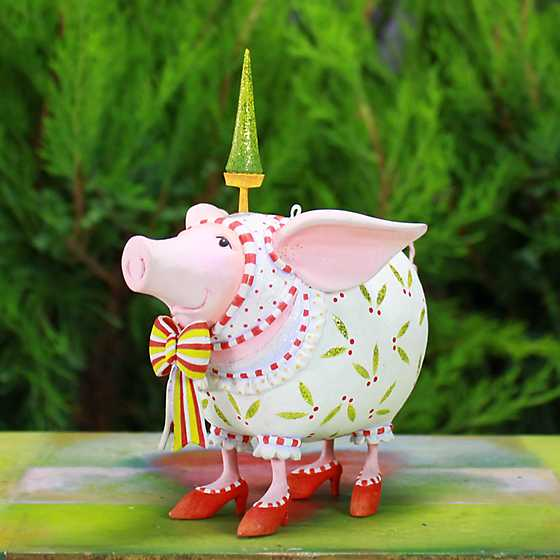 Patience Brewster Nanette Dressed Up Pig Ornament image two