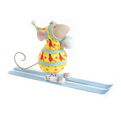 Patience Brewster Dash Away Max Skiing Mouse Ornament