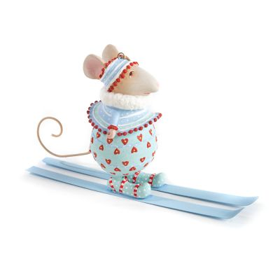 Patience Brewster Dash Away Molly Skiing Mouse Ornament