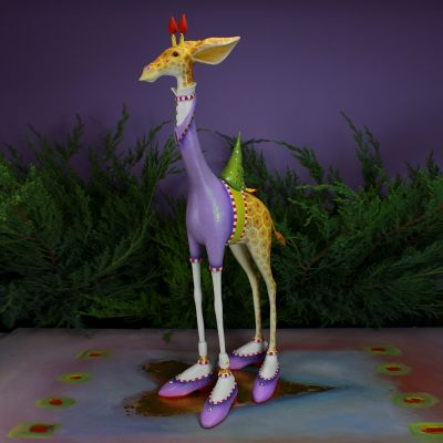 Patience Brewster Jambo George Giraffe Figure - Purple