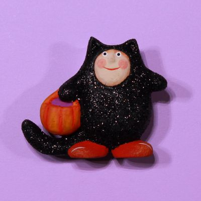 Patience Brewster Halloween Cat Costume Pin