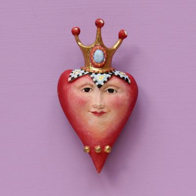 Patience Brewster Heart with Crown Pin