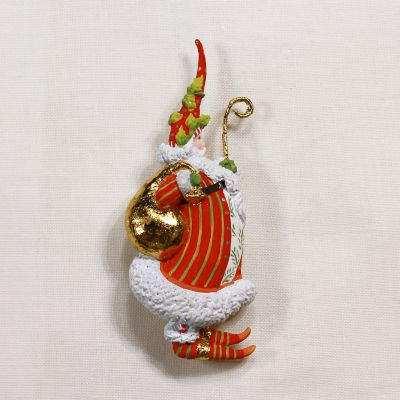 Patience Brewster Dash Away Candlelight Santa Pin