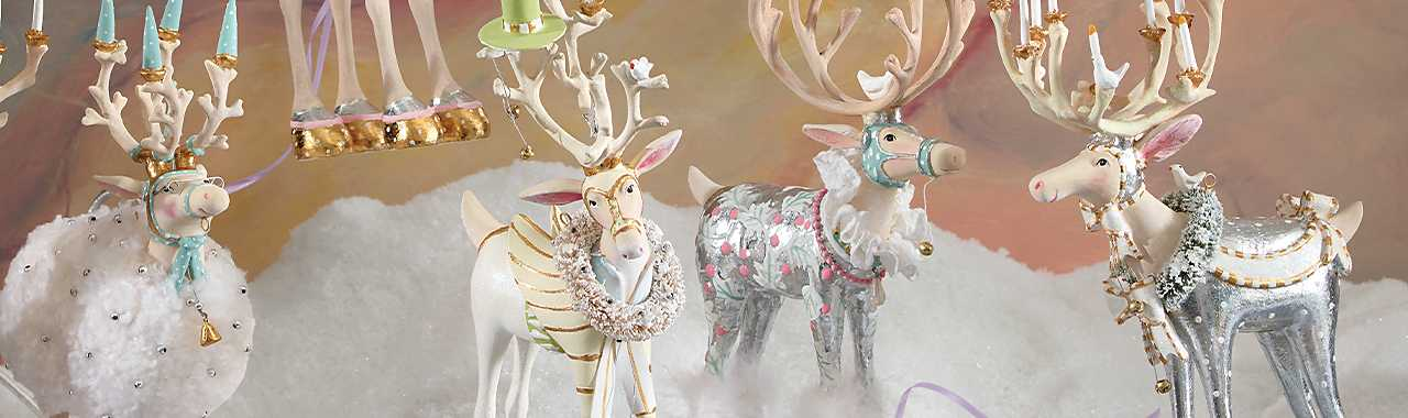 Patience Brewster Moonbeam Dasher Reindeer Figure Banner Image