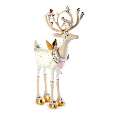 Patience Brewster Moonbeam Cupid Reindeer Figure