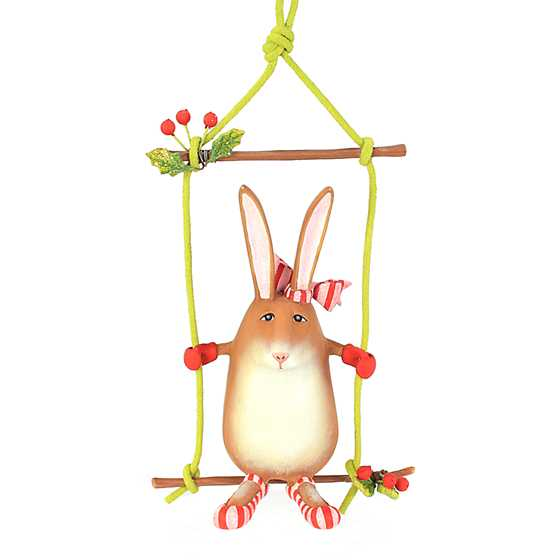 Patience Brewster Rebecca Rabbit on Swing Ornament image two