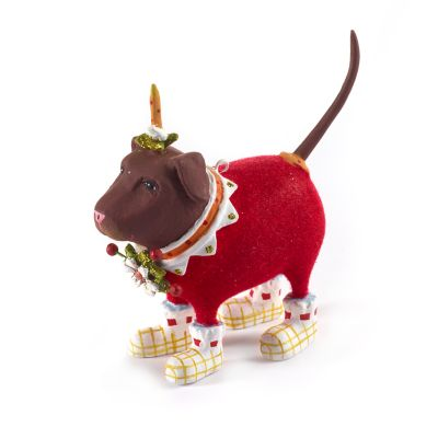 Patience Brewster Lola Chocolate Lab Mini Ornament