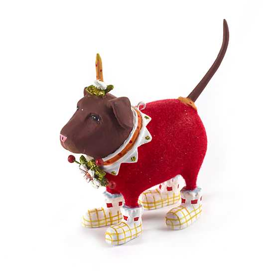 Patience Brewster Lola Chocolate Lab Mini Ornament image one