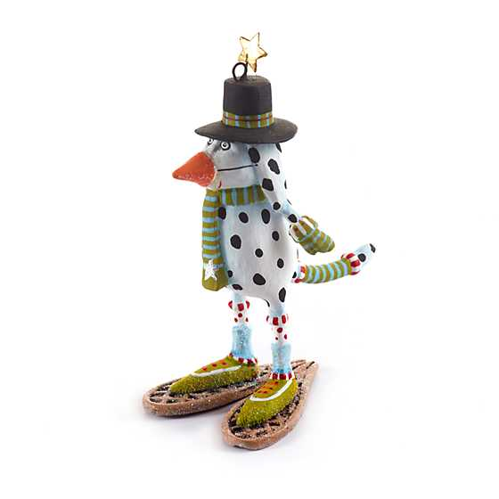Patience Brewster Andrew Snow Dog Mini Ornament