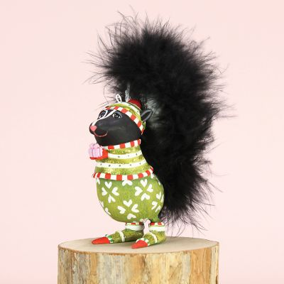 Patience Brewster Sniffy Skunk Mini Ornament
