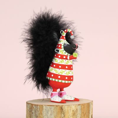 Patience Brewster Sal Skunk Mini Ornament