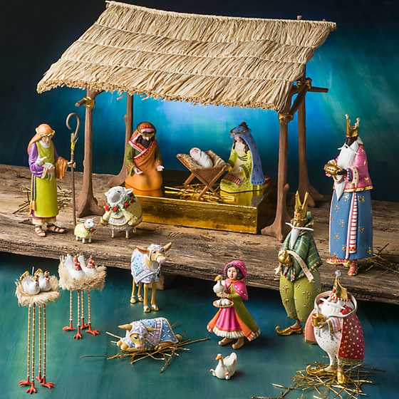 Patience Brewster Nativity Chicken & Dove Figures image six