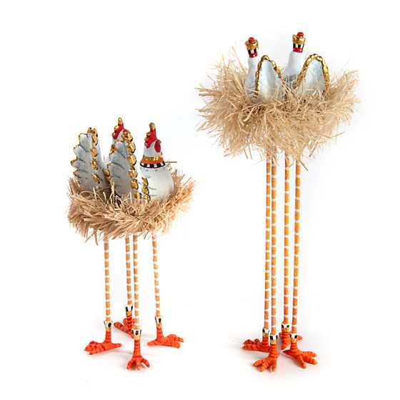 Patience Brewster Nativity Chicken & Dove Figures
