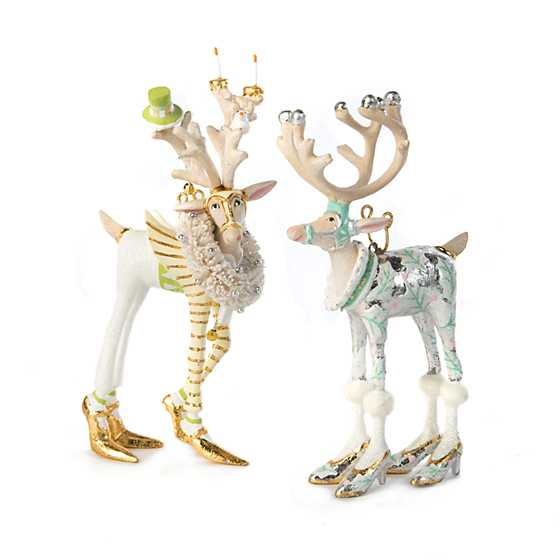 Patience Brewster Moonbeam Prancer Reindeer Mini Ornament image four