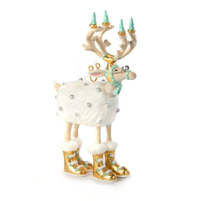 Patience Brewster Moonbeam Blitzen Reindeer Mini Ornament