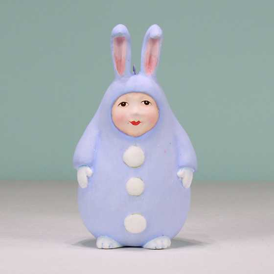 Patience Brewster Blue Egg Bunny Ornament