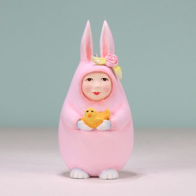 Patience Brewster Pink Egg Bunny Ornament