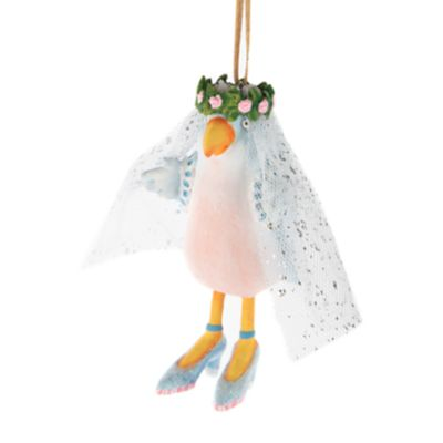 Patience Brewster Love Bird Bride Ornament