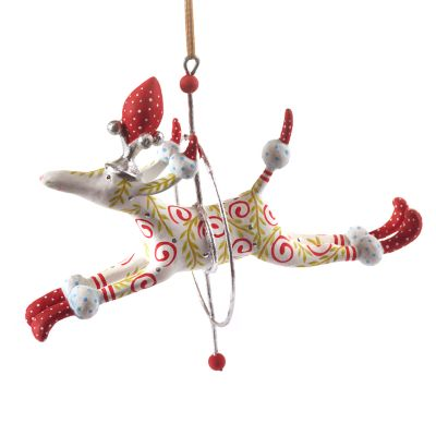 Patience Brewster Lalla Leaping Poodle Ornament