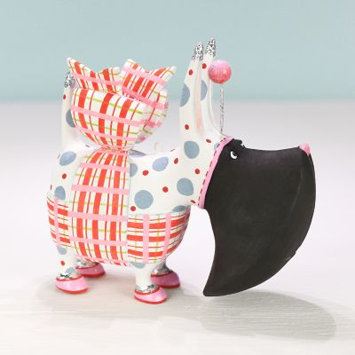 Patience Brewster Agnes Plaid Scottie Ornament