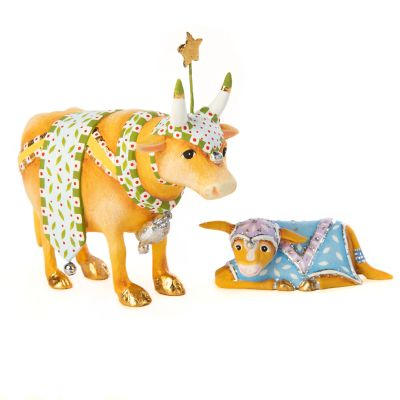 Patience Brewster Nativity Cow & Calf Mini Figures