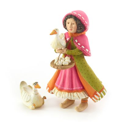Patience Brewster Nativity Girl with Duck Figures