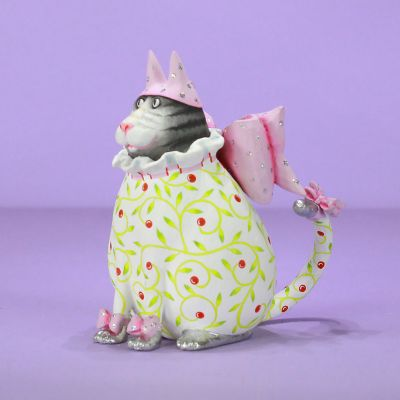 Patience Brewster Averina Pink Hat Cat Ornament