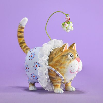 Patience Brewster Missy Mistletabby Cat Ornament