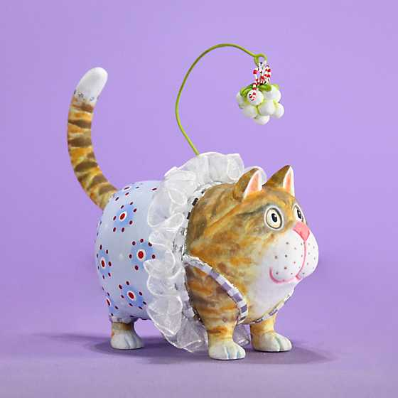 Patience Brewster Missy Mistletabby Cat Ornament image one