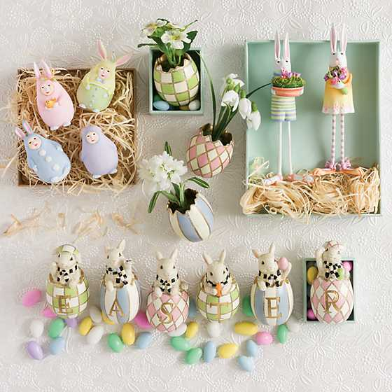 Patience Brewster Egg Bunny Ornaments - Set of 4 image two