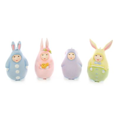Patience Brewster Egg Bunny Ornaments-Set of 4