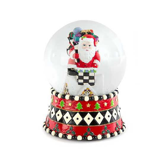 Rooftop Santa Snow Globe - GWP only