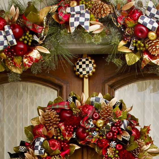 Courtly Check Wreath Hanger image two