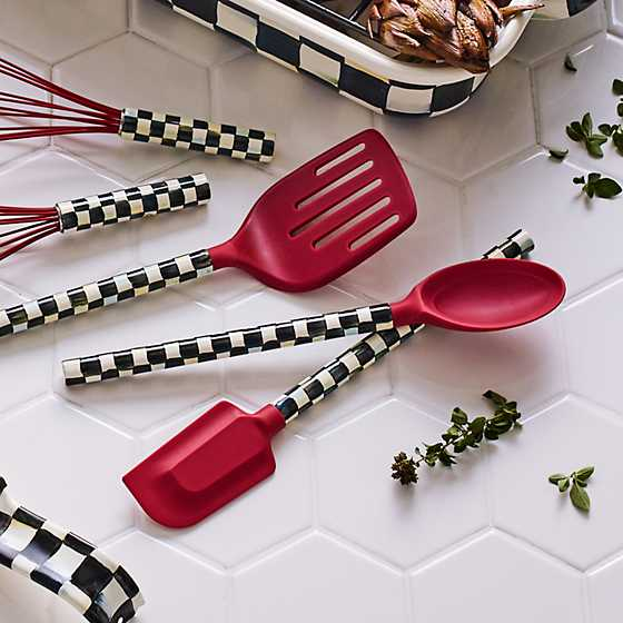 Courtly Check Spatula - Red image six