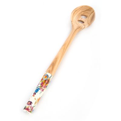 Flower Market Olivewood Slotted Spoon