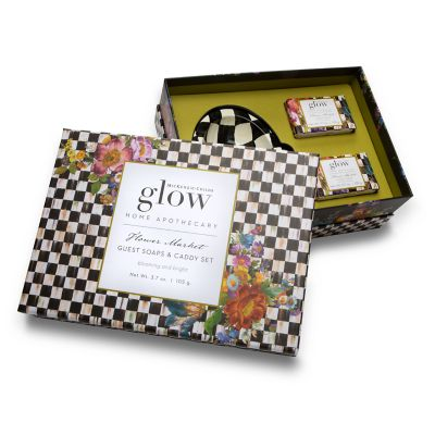 Flower Market Bar Soap & Dish Set