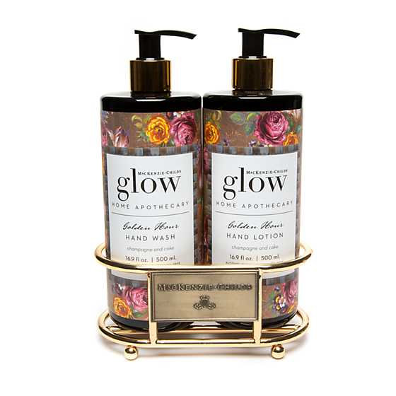 Golden Hour Soap & Lotion Caddy Set image one