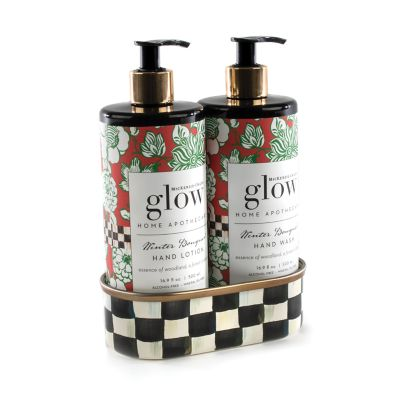 Winter Bouquet Soap & Lotion Caddy Set